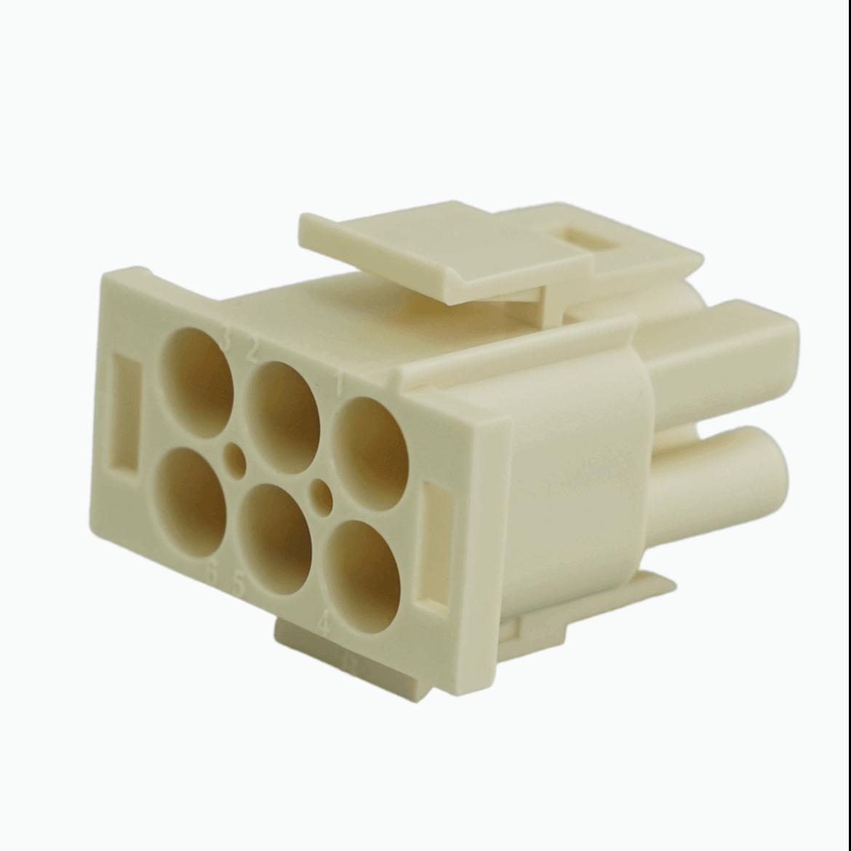 CRM623; Obudowa mate n lock 6.35mm 2x3 typu wtyk UL-94V2.